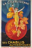 La Chablisienne, Ses Chablis Authentiques, French Wine Poster Fotografie-Druck von David Pollack