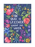 Greener Grass (Blue Background) Stampa giclée di Elizabeth Rider
