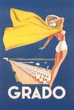 Travel Poster for Grado 写真プリント : Found Image Holdings Inc