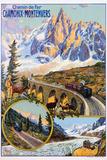 Chamonix-Montenvers Poster by David Dellepiane Fotografie-Druck von swim ink 2 llc
