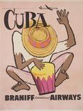 Cuba Braniff International Airways Poster Fotografie-Druck von David Pollack