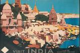 Travel Poster for India Impressão fotográfica por Found Image Holdings Inc