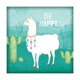 Be Happy Llama Stampe di Jennifer Pugh