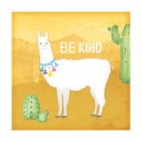 Be Kind Llama Poster di Jennifer Pugh