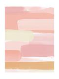 Sunset Pink Stripe II Affiches par Linda Woods