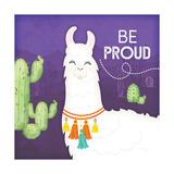 Be Proud Llama Kunstdruck von Jennifer Pugh