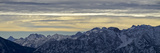 Germany, Bavaria, Bavarian Alps, Ammergauer Alps, Rear Hörnle, View Eastwards on Wetterstein and Ka Impressão fotográfica por Bernd Rommelt