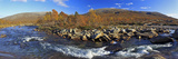 Europe, Norway, Nordnorwegen, Province Northern Country, Semska Stodi Nature Reserve, Course of a R Impressão fotográfica por Bernd Rommelt