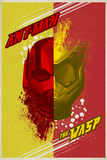 Ant-Man and the Wasp - Colorful Half Ant-Man, Half Wasp Helmet Posters