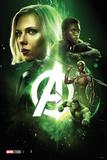 Avengers: Infinity War - Black Widow, Black Panther, General Okoye, Hulk Stampe