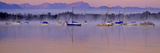 Germany, Bavaria, 5-Sea Country, Saint Heinrich, Lake Starnberg Zugspitze Massif, Wetterstein Range Impressão fotográfica por Bernd Rommelt