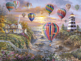 Balloons over Cottage Cove Reproduction procédé giclée par Nicky Boehme