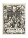 Coat of arms of the Guild of Saint Luke with Saint Luke painting Madonna and Child, 1620-21 Giclée-Druck von Sebastian Vrancx