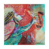 Jazz Angel Giclee Print by Sylvia Paul