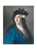 Gustavus Hamilton, Second Viscount Boyne, in Masquerade Costume, 1730-31 Giclee-trykk av Rosalba Giovanna Carriera
