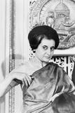 Prime Minister Indira Gandhi of India at the National Press Club Washington, 1966 Fotografisk tryk af Warren K. Leffler