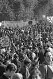 Large crowd demonstrate against the Vietnam war in Washington, D.C., 21 Oct. 1967 Fotografisk tryk af Warren K. Leffler