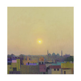 Sunset over the Jama Masjid, Delhi Study II Giclée-Druck von Andrew Gifford