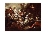 Christ Appearing in a Dream to St. Martin, c.1733 Giclée-tryk af Francesco Solimena