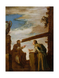 The Parable of the Mote and the Beam, c.1619 Giclée-tryk af Domenico Fetti or Feti