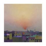 Sunset over Jama Masjid, Delhi II Impressão giclée por Andrew Gifford