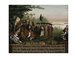 Penn's Treaty with the Indians, 1840-45 Giclee-trykk av Edward Hicks