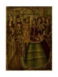 Shaykh Sanan and the Christian Maiden Giclée-tryk af  Qajar School