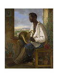 Portrait of a Gardener and Horn Player in the Household of the Emperor Francis I, 1836 Reproduction procédé giclée par Albert Schindler