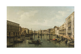View of Grand Canal with the Palazzi Foscari and Moro Lin Reproduction procédé giclée par Bernardo Bellotto
