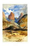 Colburn's Butte, South Utah, 1873 Giclée-tryk af Thomas Moran
