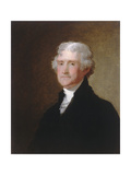 Thomas Jefferson, c.1821 Giclee Print by Gilbert Stuart