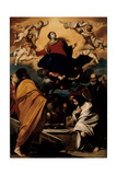 The Assumption of the Virgin, c.1630-1635 Giclée-tryk af Massimo Stanzione