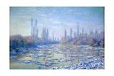 Les Glacons, 1880 Giclée-Druck von Claude Monet