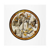 Roundel with the Temptation of Saint Anthony, 1532 Giclée-tryk af  German School