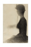 Seated Woman with a Parasol , 1884-85 Giclee Print by Georges Pierre Seurat
