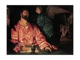 Saint Matthew and the Angel, c.1534 Giclée-tryk af Giovanni Girolamo Savoldo