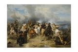 Death of King Gustav II Adolf of Sweden at the Battle of Lützen, 1855 Giclée-tryk af Carl Wahlbom
