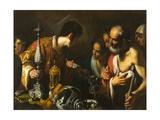 St. Lawrence Distributing the Treasures of the Church, c.1625 Stampa giclée di Bernardo Strozzi