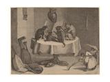 The Cat's Concert Giclée-Druck von David the Younger Teniers