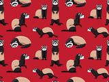 Cute Ferret Pattern Lámina giclée prémium por  bullet_chained