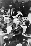 Nikita Khrushchev at a meeting of the United Nations General Assembly in New York, 1960 Fotografisk tryk af Warren K. Leffler