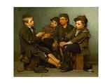 A Tough Story, 1886 Gicléedruk van John George Brown