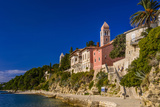 Croatia, Rab Rab Town, Promenade with Monastery Sveti Andrija Photographic Print by Udo Siebig