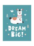 Dream Big, Llama! Giclée-Premiumdruck von  Artrise
