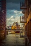 Germany, Hamburg, Elbe, the Port, Speicherstadt, Facades, Balconies Reproduction photographique par Ingo Boelter