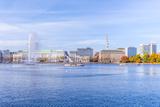 Germany, Hamburg, City Center, Alster, Alster, Autumn Reproduction photographique par Ingo Boelter