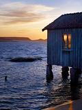 Sweden, Bohus, West Coast, Old Fisherman's Cottage in Grebbestad Fotografie-Druck von K. Schlierbach