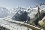 Dufourspitze, Lyskamm, Castor, Pollux, Gornergletscher, Gornergrat, Valais, Switzerland Photographic Print by Rainer Mirau