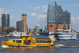Elbfahre Ferry and Harbour Cruise in Front of the Elbe Philharmonic Hall Photographic Print by Uwe Steffens