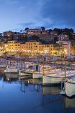 Harbour of Port De Soller, Majorca, the Balearic Islands, Spain Photographic Print by Rainer Mirau